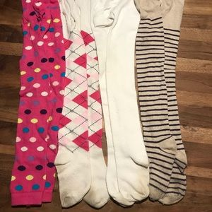 Other - Girls tights various colors and brands size 7-10